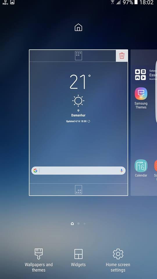 Galaxy S8 Home screen settings