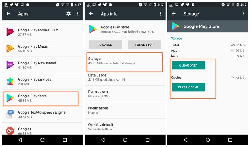 58e61621d ... المفاجئ في حالة أنك تحاول تشغيل التطبيق مرة أخرى. لذلك ستكون فكرة جيدة  ان تحاول مسح الذاكرة المؤقتة الخاص بتطبيق Google Play Store لمحاولة حل مشكلة  ...