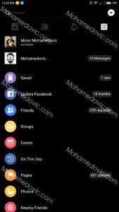 تطبيق فيسبوك الاسود APK