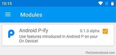 أحصل على خصائص نظام Android 9 0 Pie باستخدام P-ify Xposed   روت