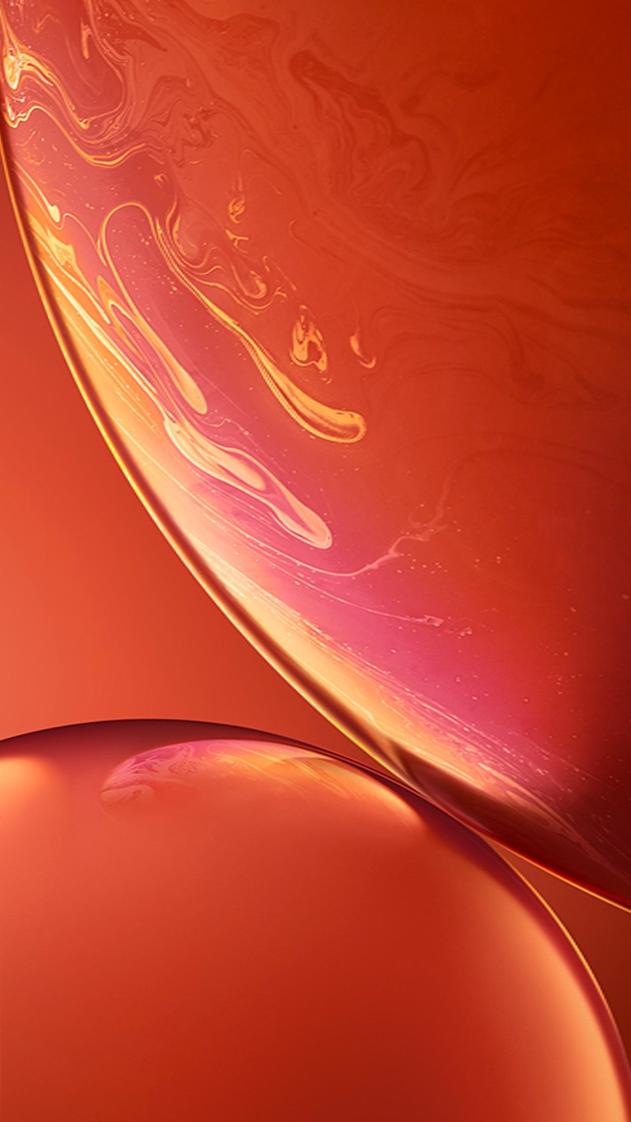 خلفيات ايفون xr البرتقالية