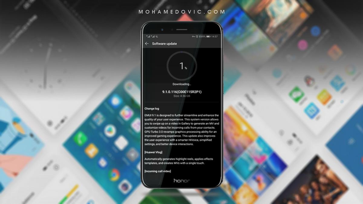 تثبيت تحديث Android Pie (إصدار EMUI 9 1) لهاتف Honor 8 Pro