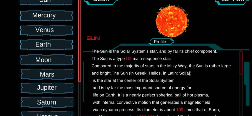 Details of Planets
