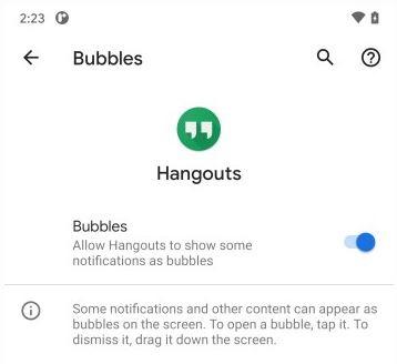 خاصية bubble في اندرويد 11